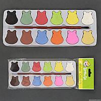 Краски акварельные 01433 (600) 12 цветов, с кисточкой, в кульке