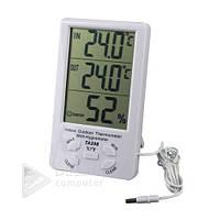 Измеритель температуры и влажности TA298, часы, проводной уличный датчик, домашняя метеостанция