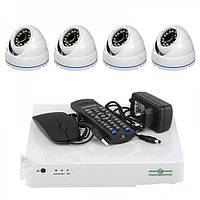 Комплект відеоспостереження Green Vision AHD GV-K-L09 / 04 1080P, 4 канальний, система відеоспостереження
