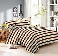 Полуторный комплект постельного белья 150*220 сатин (9438) TM КРИСПОЛ Украина