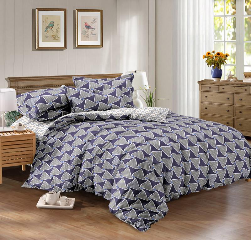 Двуспальный комплект постельного белья 180*220 сатин (9455) TM КРИСПОЛ Украина