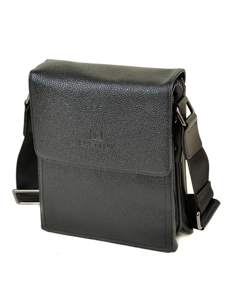 Мужская сумка планшет через плечо кожа BRETTON 503-1 black