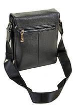 Мужская сумка планшет через плечо кожа BRETTON 503-1 black, фото 2