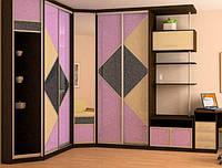 Встроенный угловой шкаф купе Киев, корпусная мебель на заказ в Киеве недорого