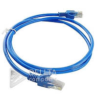 Кабель для зовнішньої прокладки інтеренет LAN CAT5 синій, 1.5м, кабель для підключення мережі інтернет