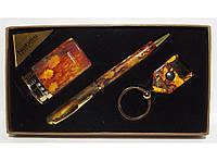 PN3-53 Подарочный набор NOBILIS: зажигалка+ ручка + брелок фонарик, Комплект мужской на подарок, Сувенир