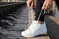 Кроссовки   Air Force low Аир форс   белые стильные популярные (Код: М8а)