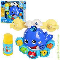 Животное для купания, мыл пуз, муз(анг), свет, цв, наз мор жив, на бат-ке, в кор-ке