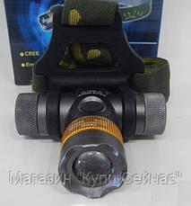 Налобный фонарик Bailong BL-H820-T6 50000W, фото 3