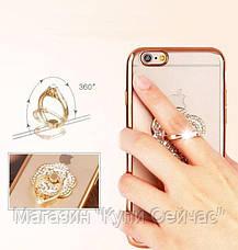 Чехол силикон. прозрачный с колечком в овальной рамке на iphone 5/5S COV-031, фото 3