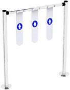 Ворота для тележек 1000 мм, 4 ярлыка.