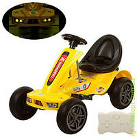 Карт р/у (2,4G),2 мотор 25W, 2 аккум 6V7AH, ЕВА колеса, желт, ремни безоп