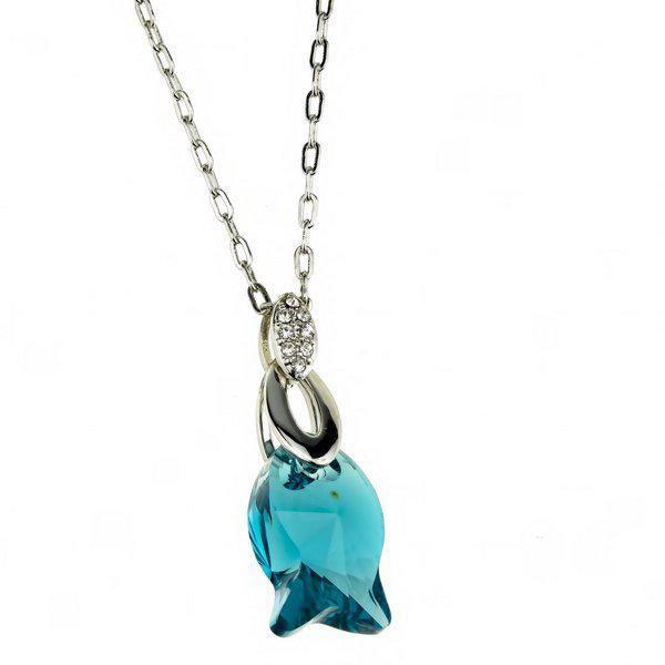 Кулон  Тюльпан голубой P000187