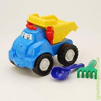 """Машина """"Смайл"""" самосвал №1: машинка, лопатка и грабельки (ЛГ3) COLORplast"""
