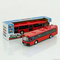 Автобус 9690 С (36) звук мотора, музыка, свет фар, двери открываются, инерция, на батарейке, в коробке