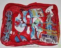Роликовые коньки, раздвижные 30-33, шнуровка +бакля в сумке, алюминиевое шасси, только СИНИЕ