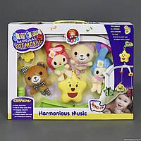 Карусель D 093 (36) музыкальная, заводной механизм, мягкие игрушки, в коробке
