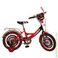Велосипед детский PROF1 мульт 16д. Original,крас-черн,зеркало,звонок