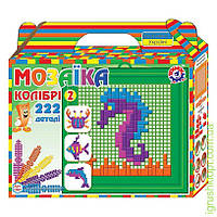 """1097 Іграшка мозаїка """"Колібрі 2 ТехноК"""" (222 деталі)"""