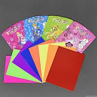 Цветная бумага 01409 (192) 8 листов, 8 цветов, 4 вида