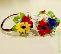 Обруч-Цветы без лент