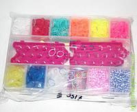 Набор резиночек для браслетов в пенале