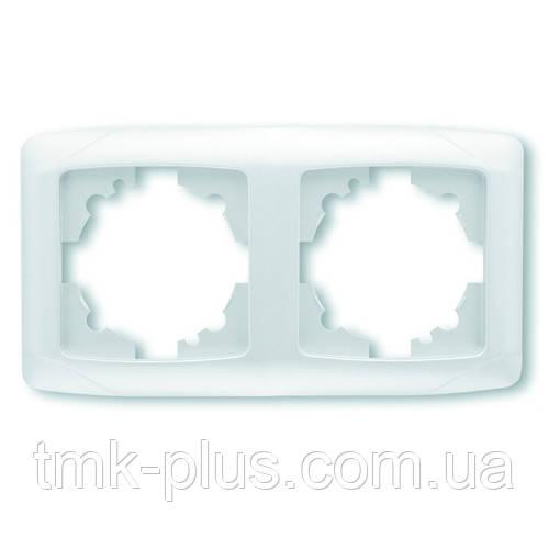 Рамка подвійна горизонтальна Viko Carmen біла