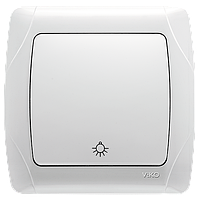 Копковий вимикач Viko Carmen білий