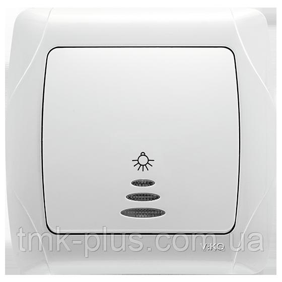 Кнопочний вимикач з підсвіткою Viko Carmen білий