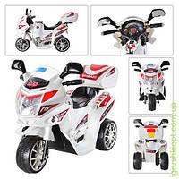 Мотоцикл мотор 6V/12W, аккум 6V/4A, 2,5км/ч, 3-6лет, белый, 82-34-52,5см