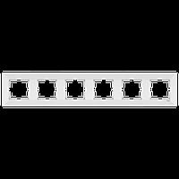 Рамка 6-а горизонтальна Meridian (Крем)