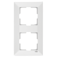 Рамка 2-а вертикальна Meridian (Крем)