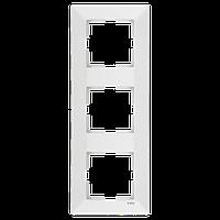 Рамка 3-а вертикальна Meridian (Крем)