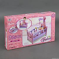 Кроватка для кукол 008-10 (12) без пупса, в коробке