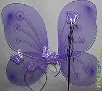 Набор для девочек фиолетовый, крылья обруч и волшебная палочка