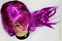 Яркий цветной парик, длинные ровные волосы