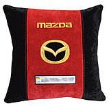 Автомобильная подушка в машину с вышитым логотипом мазда Mazda, фото 3