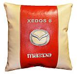 Автомобильная подушка в машину с вышитым логотипом мазда Mazda, фото 4