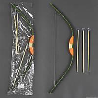 Лук деревянный С 23156 (100) со стрелами, 68см