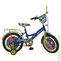 Велосипед детский PROF1 мульт 16д. Monsters, голуб-зел, зеркало, звонок