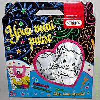"Набор ""Твоя мини сумочка"" глитер, фломастеры. Кошка ST"