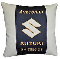 Подушка в авто с логотипом Suzuki сузуки