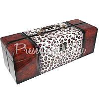 Винный сундук на одну бутылку «Леопард», 32х11х11 см.