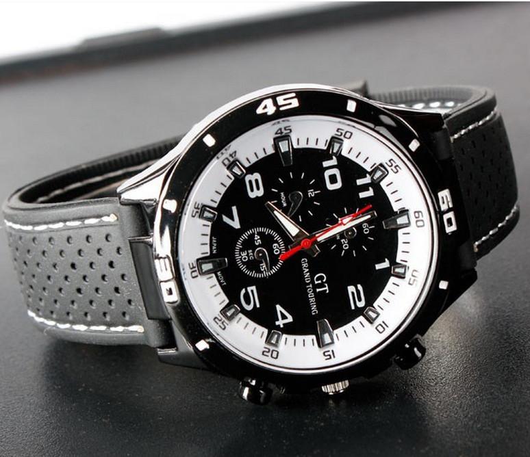 Мужские часы Street Racer GT Grand Touring с белым циферблатом