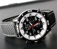 Чоловічі годинники Street Racer GT Grand Touring з білим циферблатом, фото 1