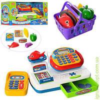Кассовый аппарат калькулятор, муз, зв(укр), св, продукты, монеты, на бат, в кор