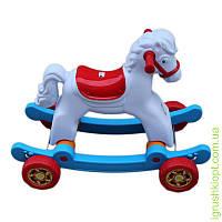 Лошадка качалка с колёсами Orion