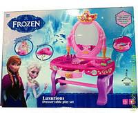 """Туалетный столик """"Frozen"""" батар, свет, звук, зеркало, фен, аксесс, в кор."""