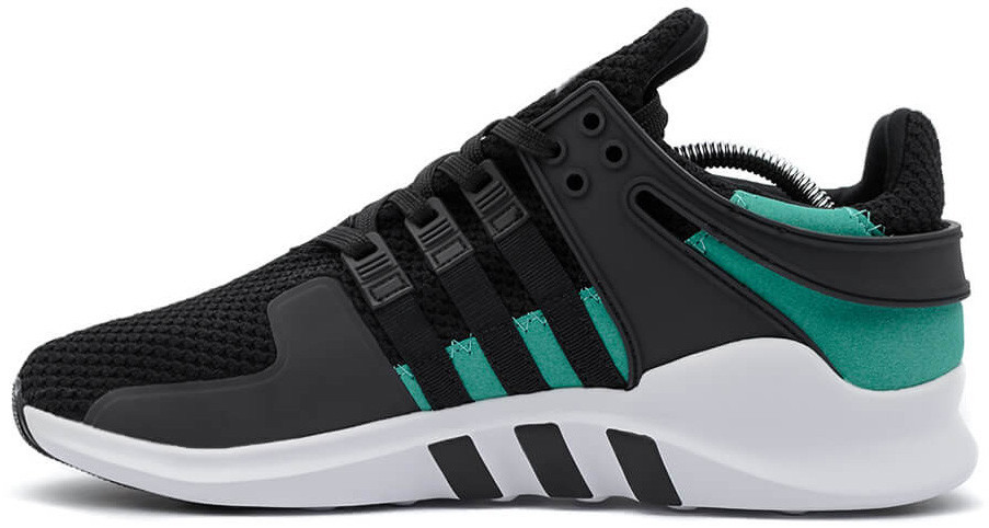 Мужские кроссовки Adidas Equipment Support ADV (Адидас Эквипмент) черно-зеленый