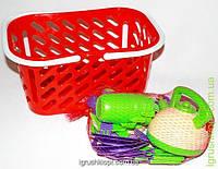 Посуда в корзинке, сковородка, чайник , 4 чашки и др Кіндер Вей